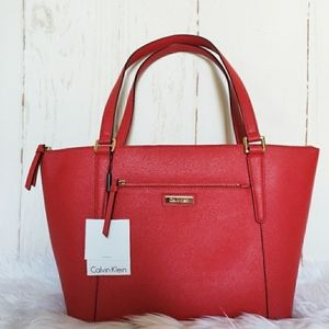 CK red leather purse (new $198)